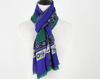 Vintage Adrienne Vittadini Oblong Silk Scarf