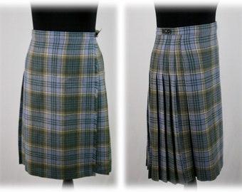 8933a88b9 Vintage Wool Plaid Skirt Kilt Skirt Edinburgh Woollen Mill Size 16