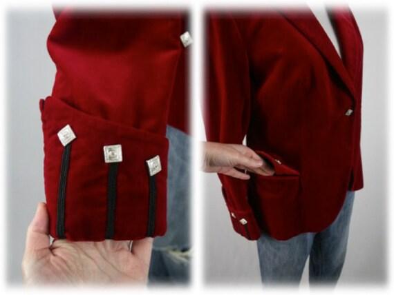 Vintage Blazer Red Velvet Sgt Pepper's Jacket - image 7