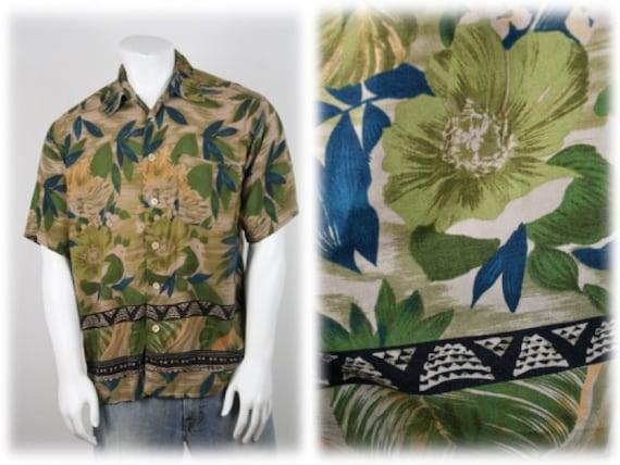 Vintage Aloha Shirt M.E. Sport Rayon Shirt Large - image 1