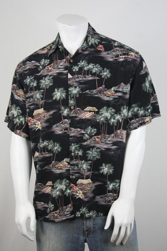 Vintage Aloha Shirt Rayon Moda Campia Moda Shirt … - image 4