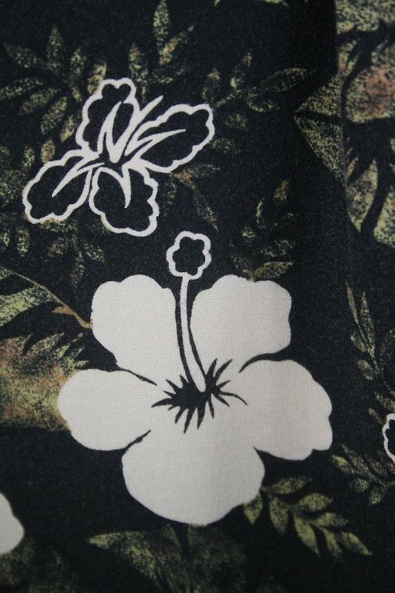Vintage Aloha Shirt Rayon M.E. Sport Shirt XL - image 8