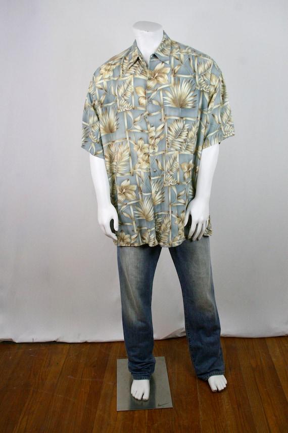 1980s Aloha Shirt Rayon Pierre Cardin 2XL Shirt - image 2