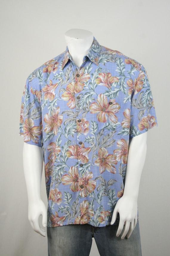 Vintage Aloha Shirt Rayon Island Shores Shirt XL - image 4