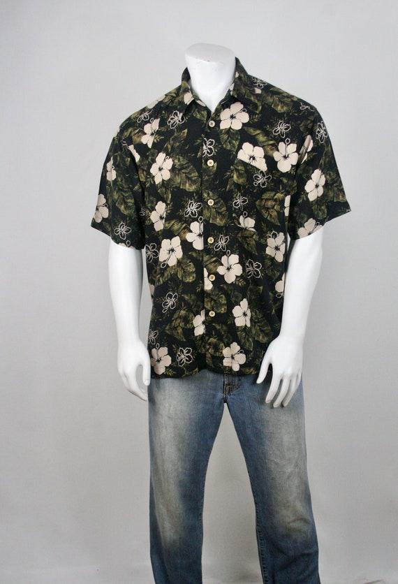 Vintage Aloha Shirt Rayon M.E. Sport Shirt XL - image 3
