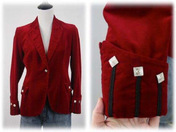 Vintage Blazer Red Velvet Sgt Pepper's Jacket - image 1