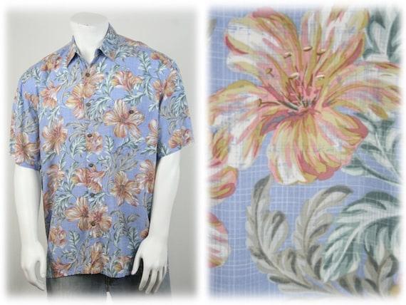 Vintage Aloha Shirt Rayon Island Shores Shirt XL - image 1