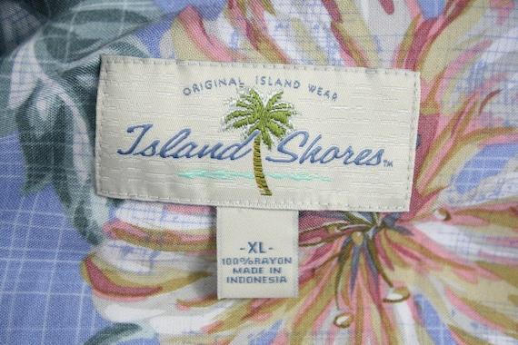 Vintage Aloha Shirt Rayon Island Shores Shirt XL - image 10