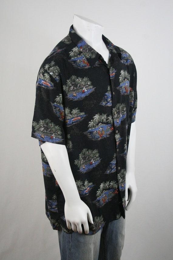 Vintage Aloha Shirt Rayon Batik Bay Shirt 3X - image 5