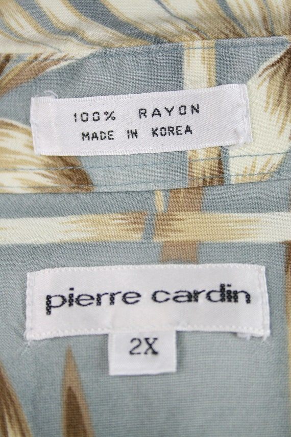 1980s Aloha Shirt Rayon Pierre Cardin 2XL Shirt - image 10