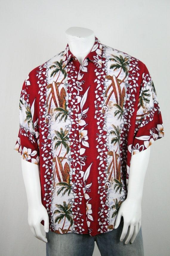 Vintage Aloha Shirt Untied Rayon Surfboard Shirt - image 4