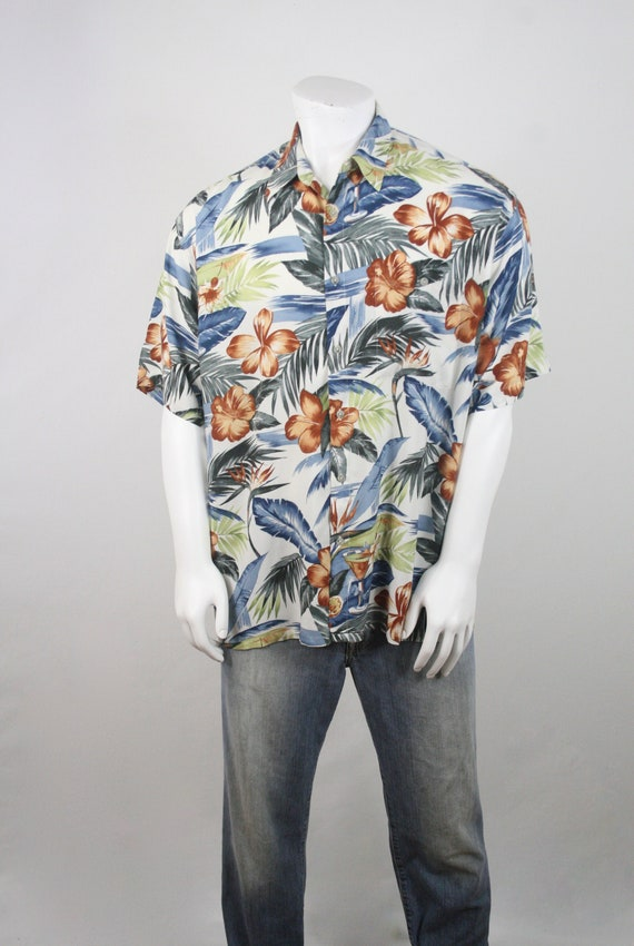 Vintage Aloha Shirt Rayon Shirt XL - image 3