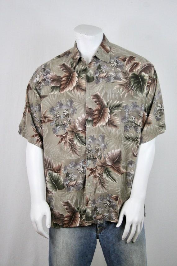 Vintage Aloha Shirt Rayon Campia Moda Shirt XL - image 4
