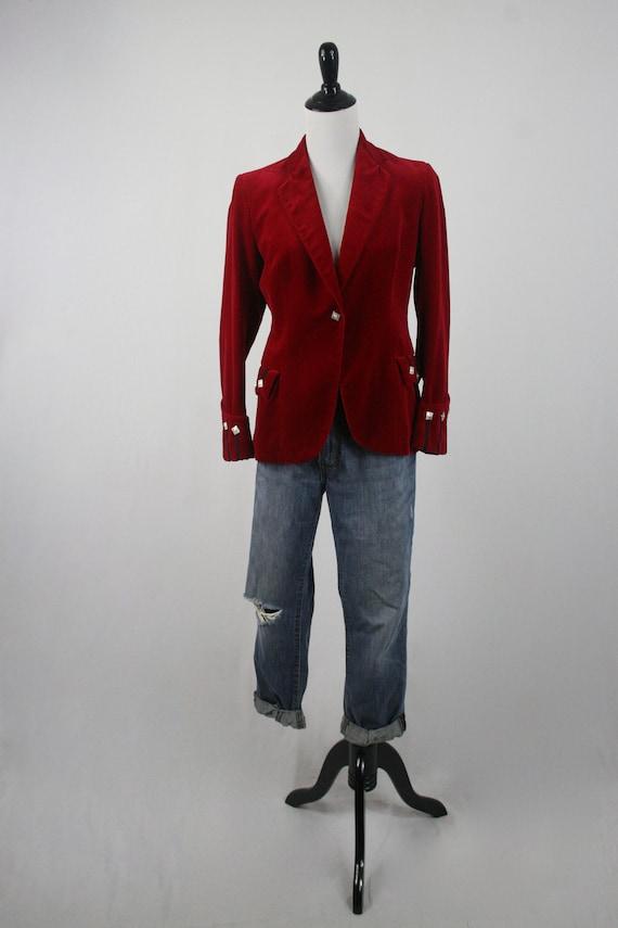 Vintage Blazer Red Velvet Sgt Pepper's Jacket - image 2