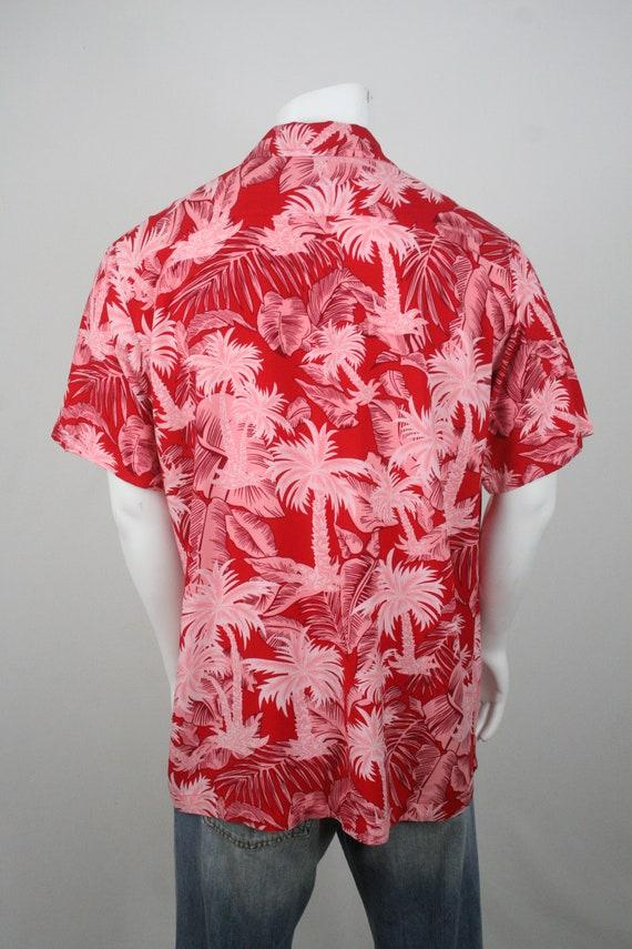 Vintage Aloha Shirt Red Rayon Shirt XL - image 6