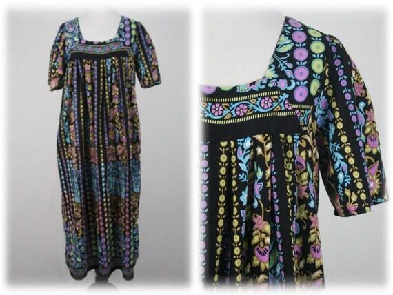 Vintage Dress Cotton Mu Mu Dress