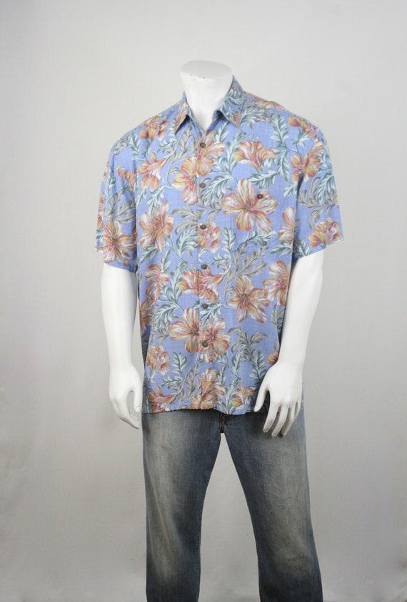 Vintage Aloha Shirt Rayon Island Shores Shirt XL - image 3