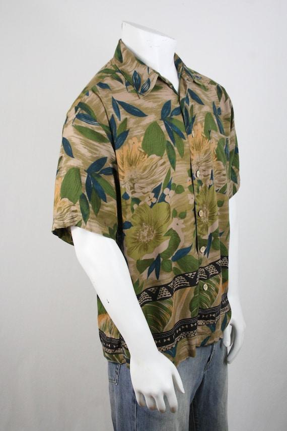 Vintage Aloha Shirt M.E. Sport Rayon Shirt Large - image 5