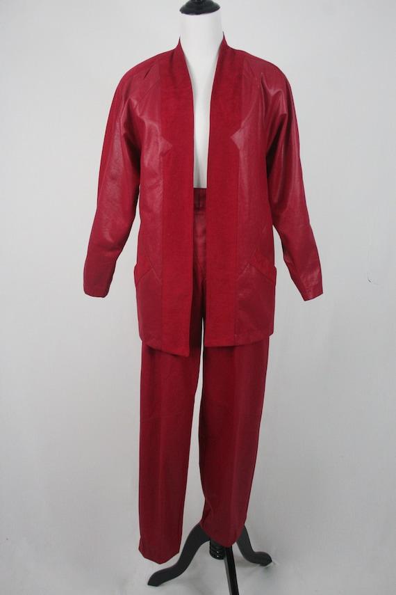 1980s Pants and Jacket Set City Girl Pant Suit - image 2