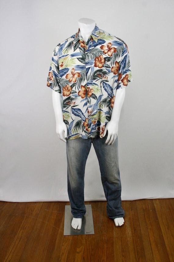 Vintage Aloha Shirt Rayon Shirt XL - image 2