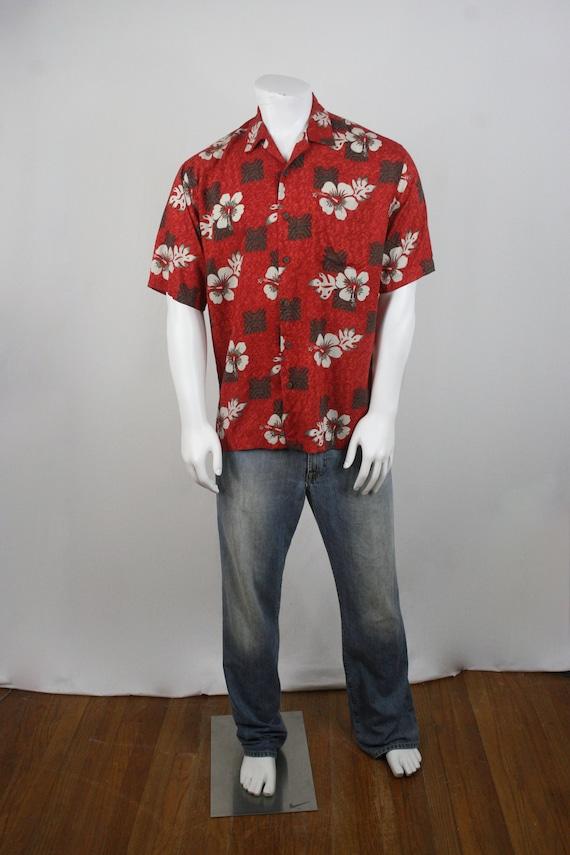 Vintage Aloha Shirt Rayon Ocian Pacific Shirt Med… - image 2
