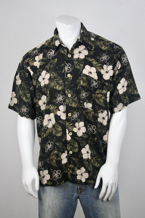 Vintage Aloha Shirt Rayon M.E. Sport Shirt XL - image 4