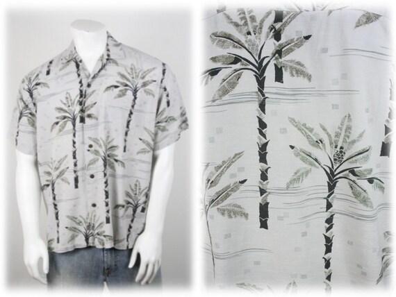 Vintage Aloha Shirt Rayon Newport Blue Shirt Medi… - image 1