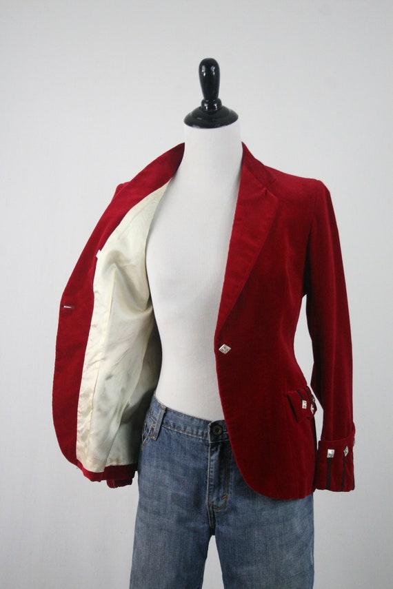 Vintage Blazer Red Velvet Sgt Pepper's Jacket - image 8