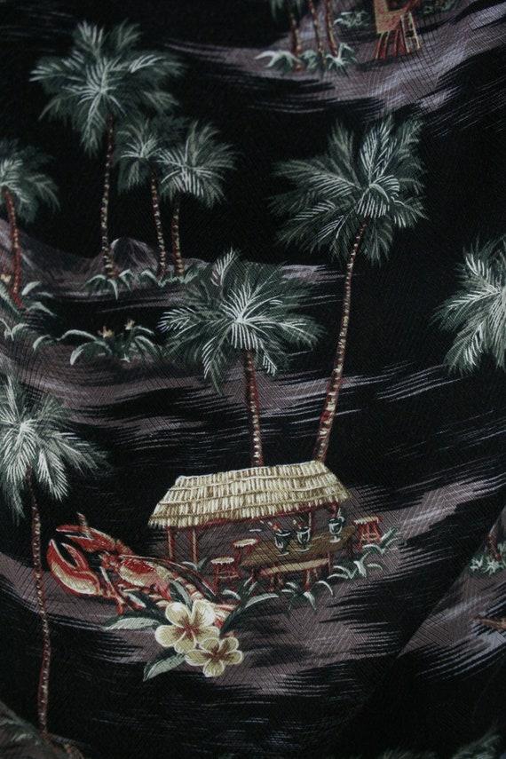 Vintage Aloha Shirt Rayon Moda Campia Moda Shirt … - image 8