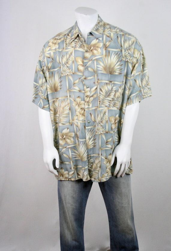 1980s Aloha Shirt Rayon Pierre Cardin 2XL Shirt - image 3