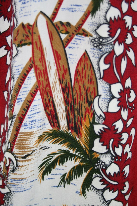 Vintage Aloha Shirt Untied Rayon Surfboard Shirt - image 9