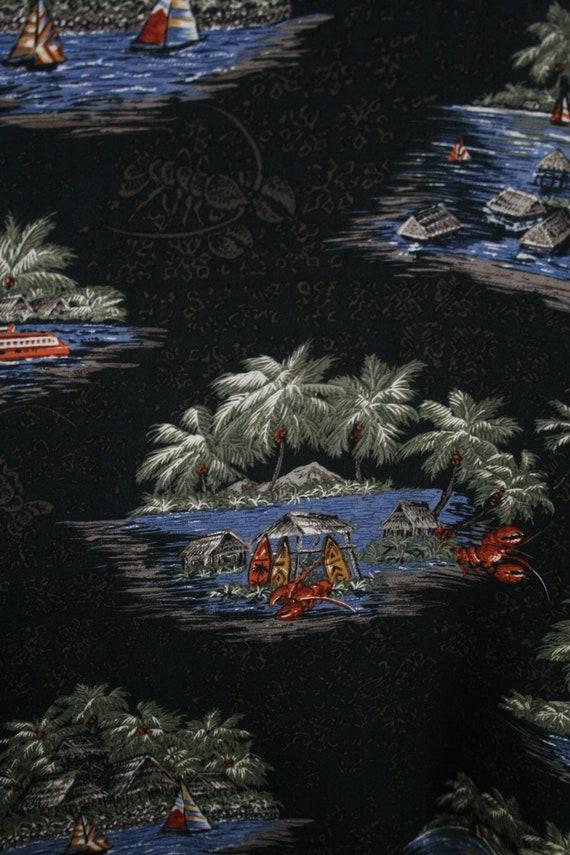 Vintage Aloha Shirt Rayon Batik Bay Shirt 3X - image 8