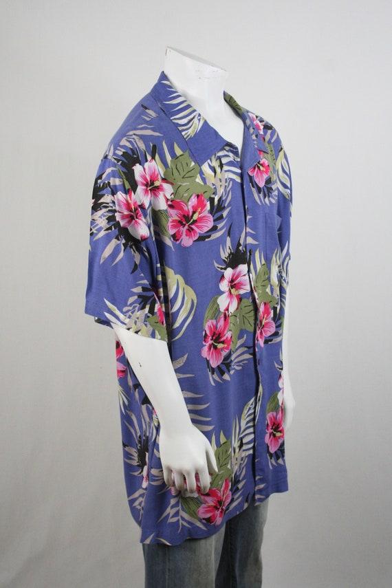 Vintage Aloha Shirt Rayon Shirt 3XLT - image 5