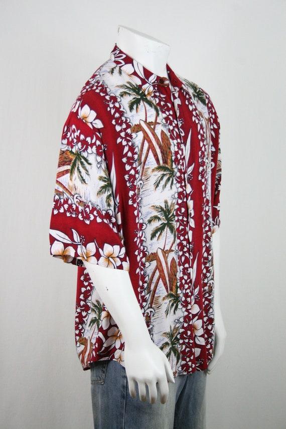 Vintage Aloha Shirt Untied Rayon Surfboard Shirt - image 6