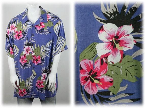 Vintage Aloha Shirt Rayon Shirt 3XLT - image 1
