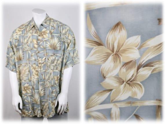 1980s Aloha Shirt Rayon Pierre Cardin 2XL Shirt - image 1