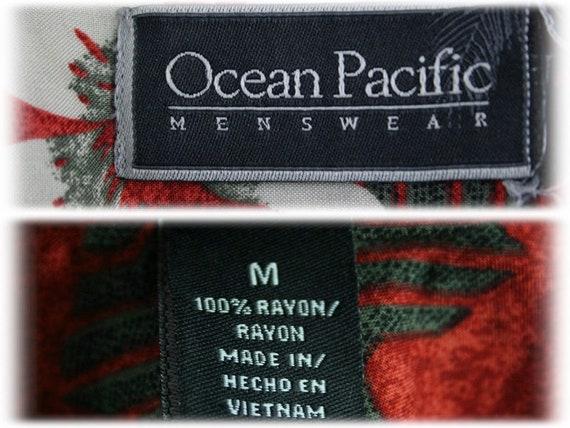 Vintage Aloha Shirt Rayon Ocian Pacific Shirt Med… - image 10