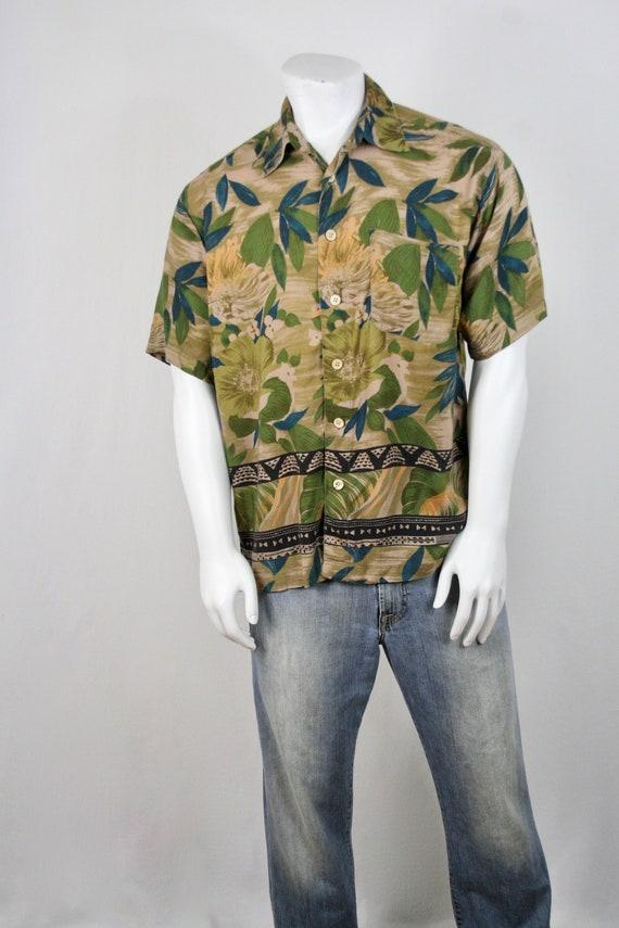 Vintage Aloha Shirt M.E. Sport Rayon Shirt Large - image 3