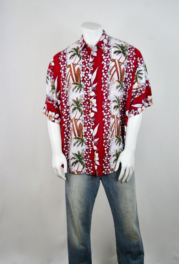 Vintage Aloha Shirt Untied Rayon Surfboard Shirt - image 3