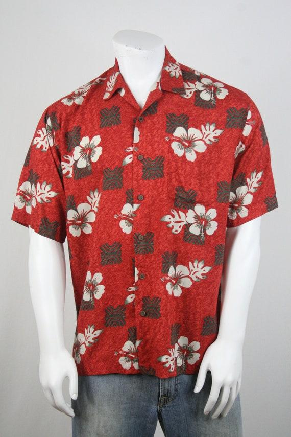 Vintage Aloha Shirt Rayon Ocian Pacific Shirt Med… - image 4