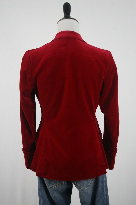 Vintage Blazer Red Velvet Sgt Pepper's Jacket - image 5