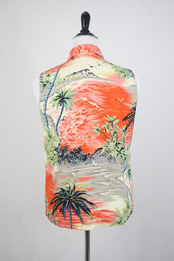 Vintage Aloha Blouse Clio Rayon Shirt Petite Large - image 6