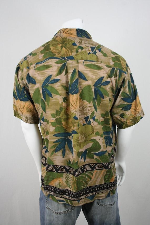 Vintage Aloha Shirt M.E. Sport Rayon Shirt Large - image 6