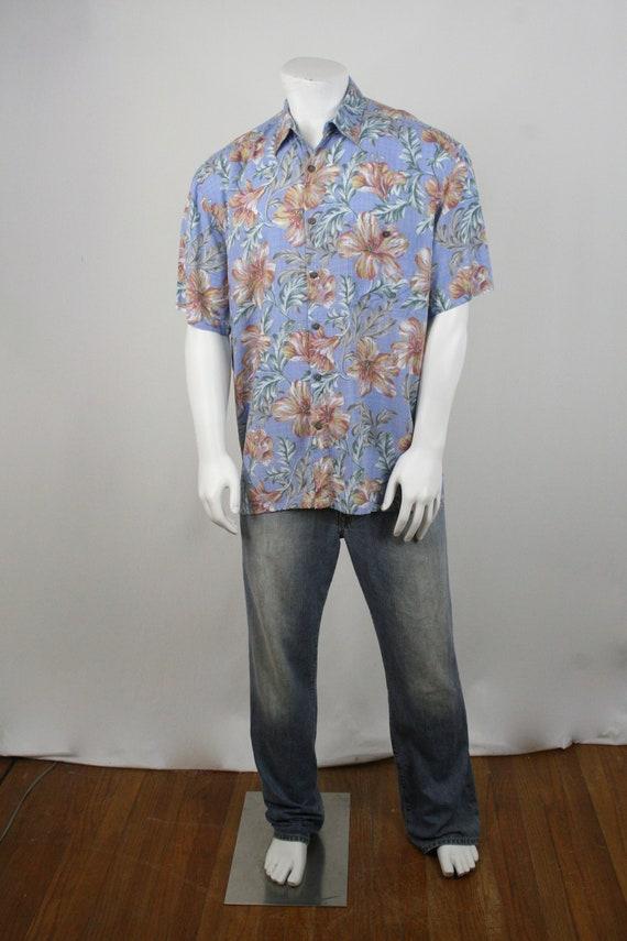 Vintage Aloha Shirt Rayon Island Shores Shirt XL - image 2