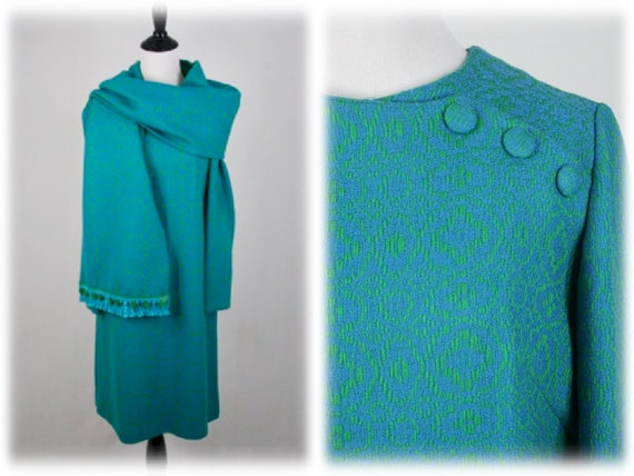 1960s  Dress and Shawl Set