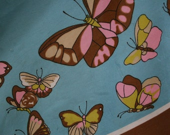 Vintage Butterfly Square Scarf