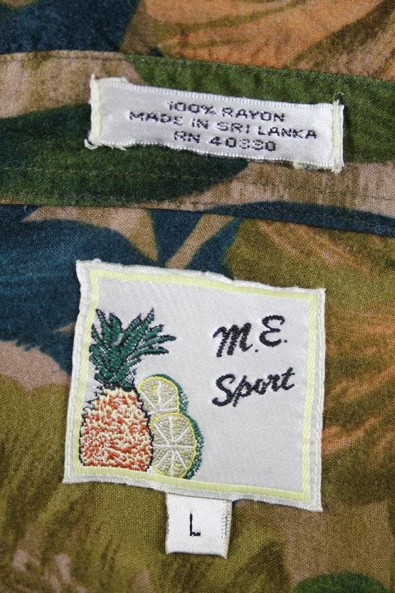 Vintage Aloha Shirt M.E. Sport Rayon Shirt Large - image 9