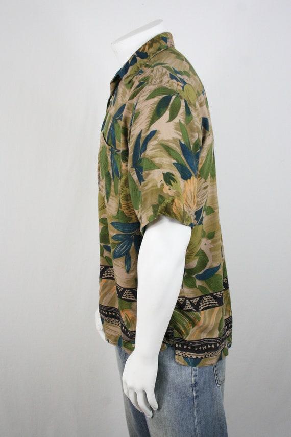 Vintage Aloha Shirt M.E. Sport Rayon Shirt Large - image 7