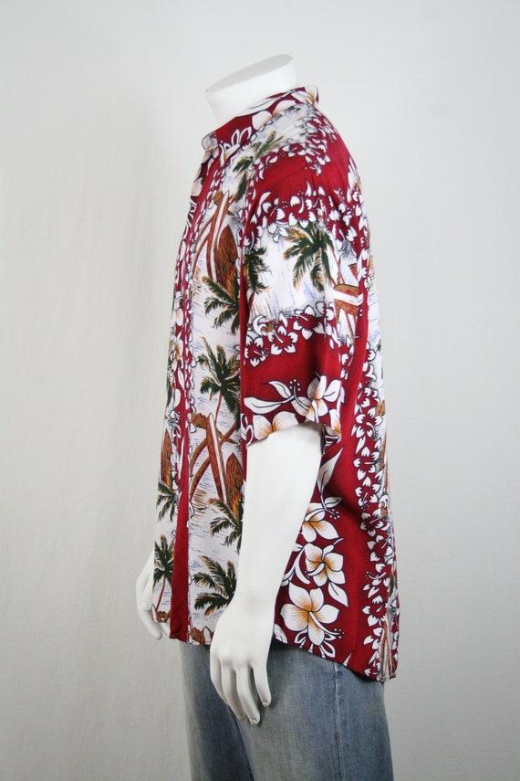 Vintage Aloha Shirt Untied Rayon Surfboard Shirt - image 8