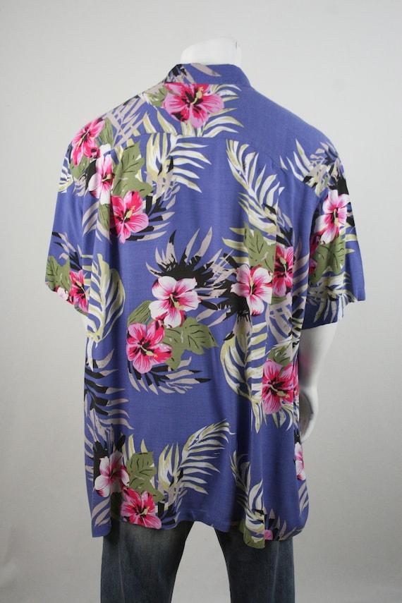 Vintage Aloha Shirt Rayon Shirt 3XLT - image 6